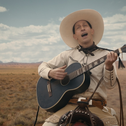 Tim Blake Nelson is Buster Scruggs in The Ballad of Buster Scruggs, a film by Joel and Ethan Coen.