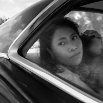 Yalitza Aparicio as Cleo, Marco Graf as Pepe, and Daniela Demesa as Sofi in Roma, written and directed by Alfonso Cuarón. Image by Alfonso Cuarón.
