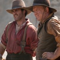 "Joaquin Phoenix (left) stars as ""Charlie Sisters"" and John C. Reilly (right) stars as ""Eli Sisters"" in Jacques Audiard's THE SISTERS BROTHERS, an Annapurna Pictures release. Credit : Magali Bragard / Annapurna Pictures"