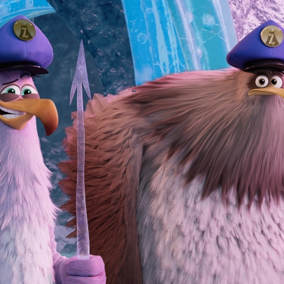 Carl (Zach Woods) and Jerry (Pete Davidson) in Columbia Pictures and Rovio Animations' ANGRY BIRDS 2.